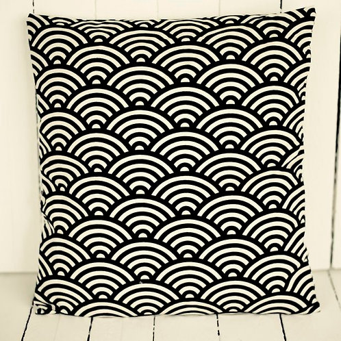 """Empire' - B & W Art Deco Cushion"