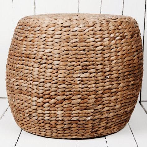 Woven straw basket stool & pedestal hire Brisbane wedding & event styling