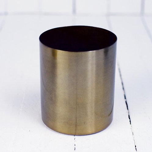 'Golda Me Near' - Golden Metal Vase