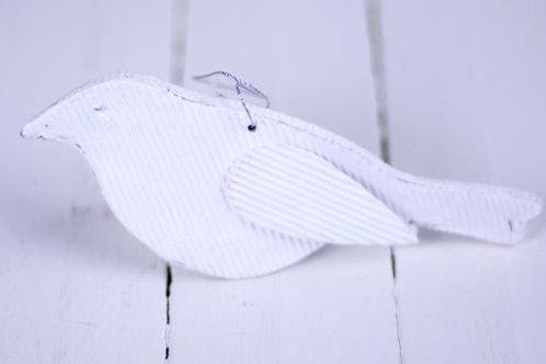 'White Wing' White Cardboard Bird