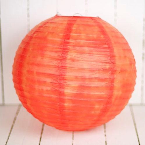 'Rice Tangerine' - Tangerine Paper Lantern 14 Inch