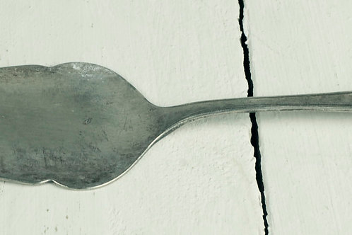 'Eliza' Small Vintage Silver Cake Server