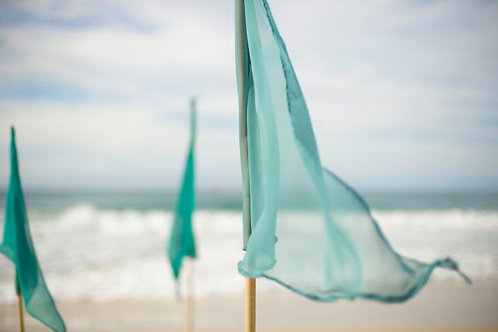 'Ocean' Small Teal Green Pennant Flags