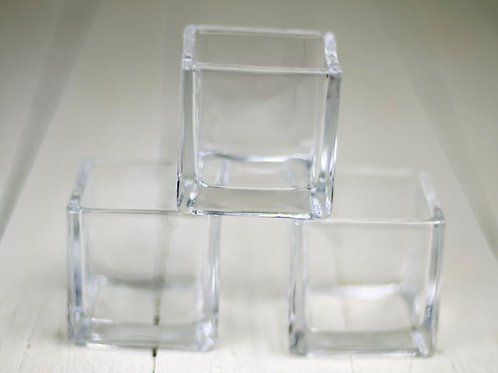 'Cubic' - Square Clear Tea Light Holder