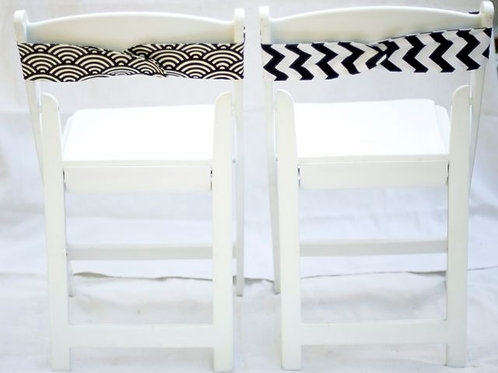 'Swirl' - Black & White Art Deco Chair Wraps