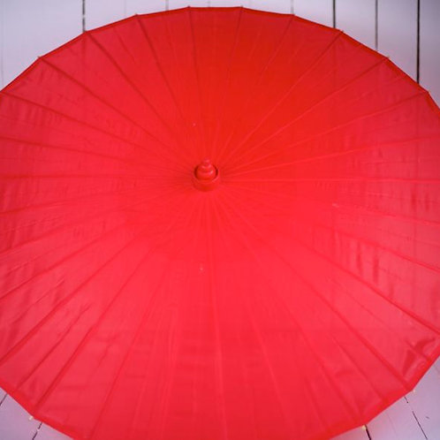 'Miss Redski' Red Fabric Parasol