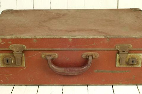 'Bon Voyage Four' Light Brown Vintage Suitcase