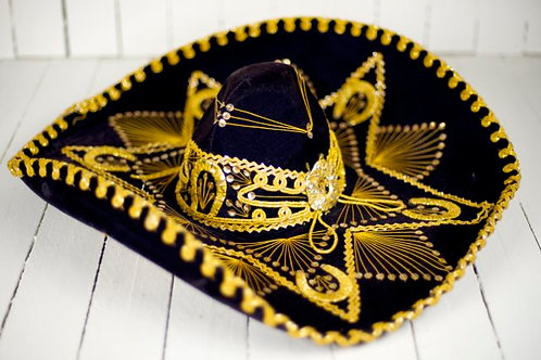 'Down Mexico Way' - Authentic Vintage Gold Sombrero