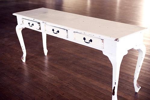 'Hall of Fame' - White Vintage Hall Table