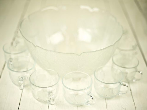 'Carol' Vintage Punch Bowl Set