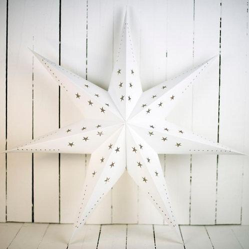 'Starlight White' - Large White Star Lantern