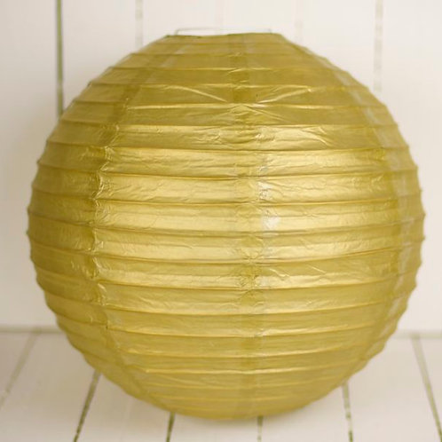 'Rice Gold' - Gold Paper Lantern 14 Inch
