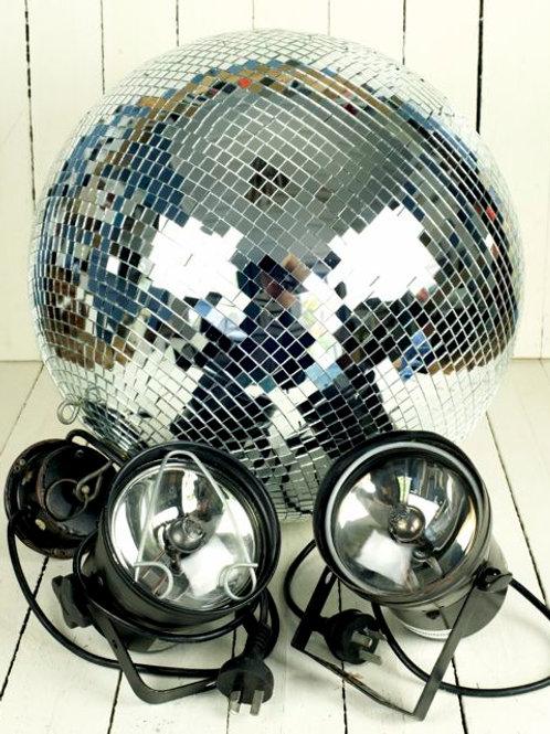 'Queen' Lg Disco/Mirror Ball & Pin Light Package