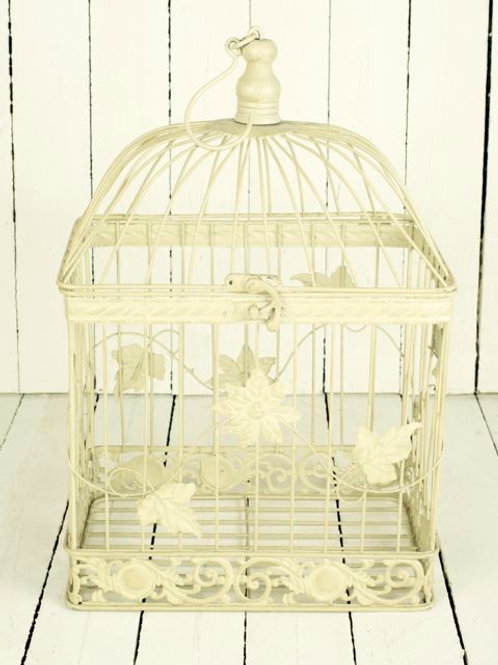 'Vine' Cream Small Bird Cage