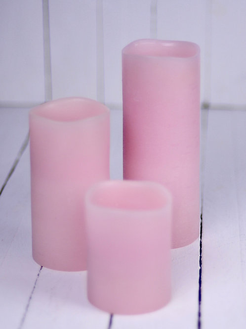 'Pink' - Pink Natural Wax Electric Candle Set