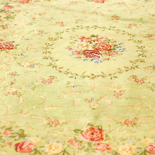 The Gloucester' - Large Green Floral Rug
