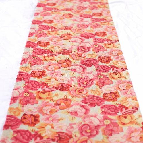 'The Flower' Pink Floral Carpet Runner
