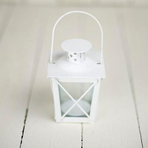 'London'  Small White Tea Light Lanterns