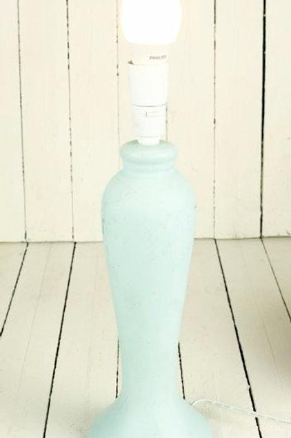 'Swan' Powder Blue Lamp Stand