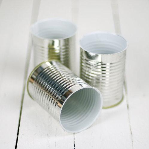 'Tin Tin' - Small Silver Tins