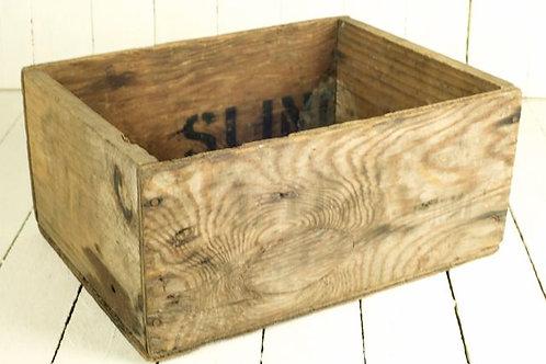 'Grain' Square Wooden Vintage Box