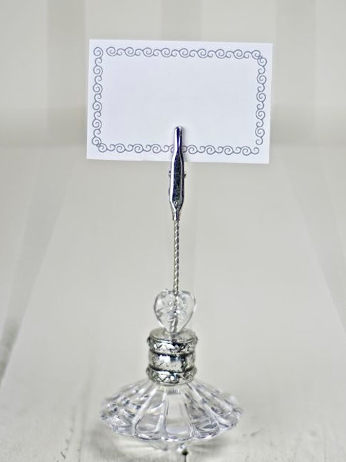 'Chrissie' Crystal Style Card/ Menu Holder