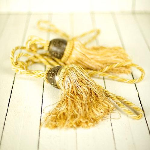 'Brassel' Large Gold & Brass Tassel