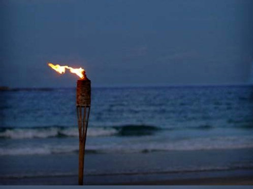 'Flame Of My Heart' Bamboo Tiki Torch