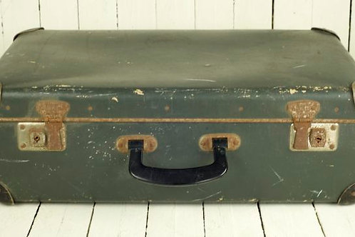 'Bon Voyage Two' Green Vintage Suitcase