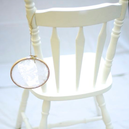 'Lydia' - White Bamboo Chair Circles