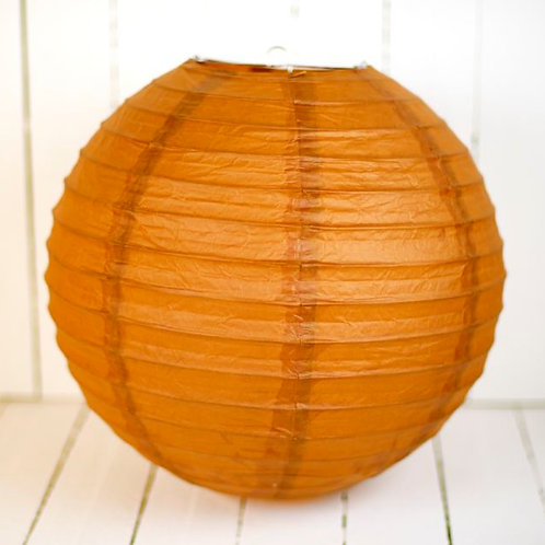 'Rice Brown' - Brown Paper Lantern 14 Inch