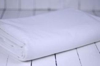 'White Three' - White Linen 310cm Round Tablecloth