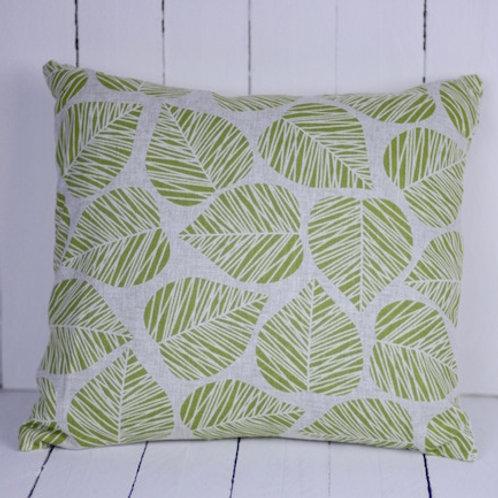 'Leafly' - Green Leaf Cushion
