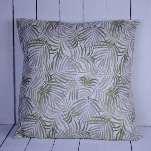 'Fernly' - Green Fern Cushion