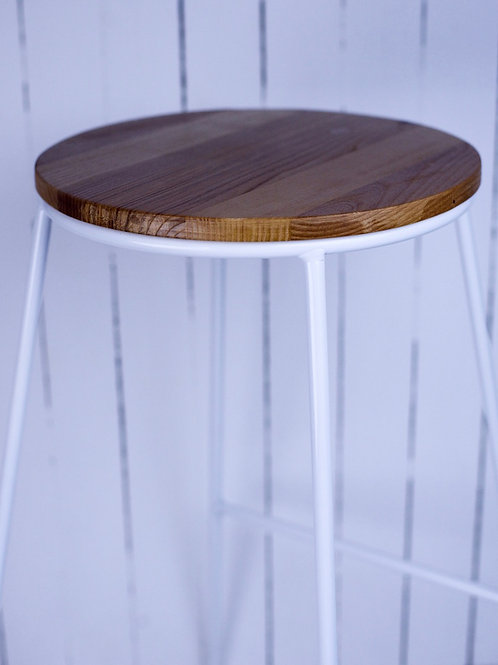 White & wood bar stool hire Brisbane wedding & event styling