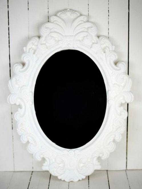'Daisy' - Large White Framed Chalkboard