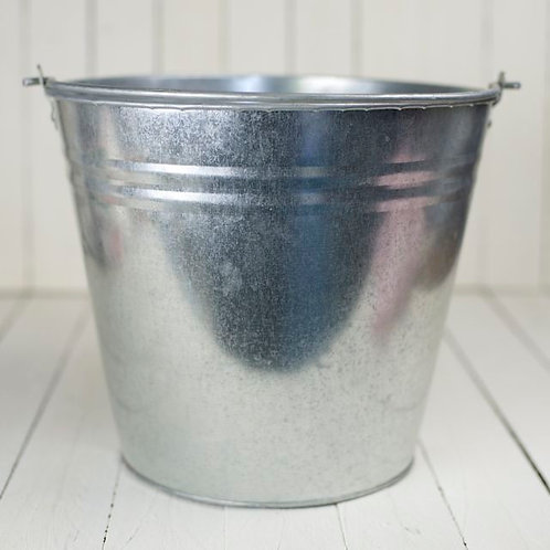 'Bessie' - Large Silver Tin Pail