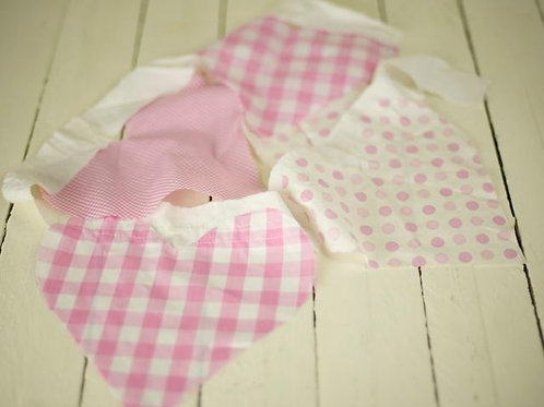Pink Gingham Heart Bunting