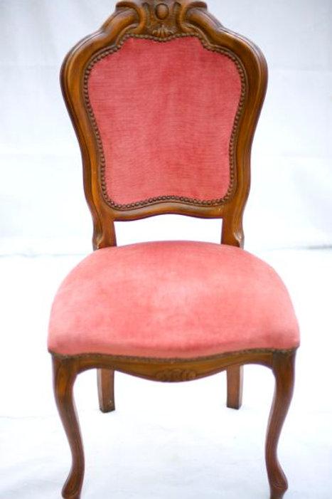 'Pink' - Vintage Pink Velvet Parlour Chair