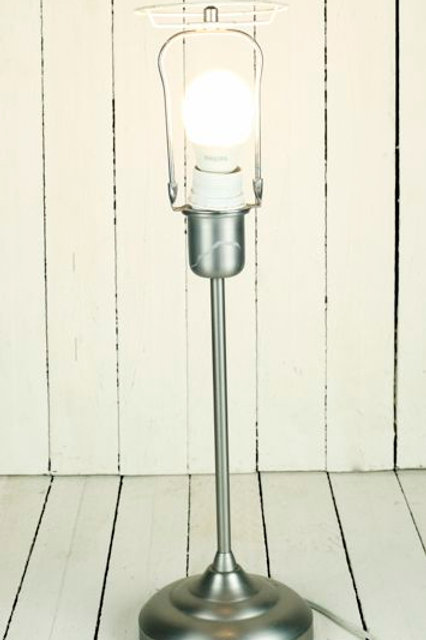 'Carbon' Tall Silver Lamp Stand
