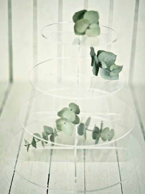 'Saturn' Small Perspex Cupcake/ Sweet Stand