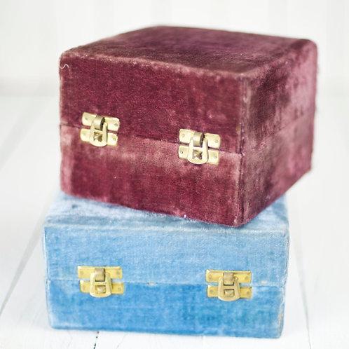'Velvie' Vintage Velvet Boxes
