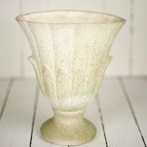 'Speckle' - Large Vintage Footed Vase