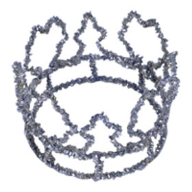 'Crown' - Silver Beaded Cake Topper