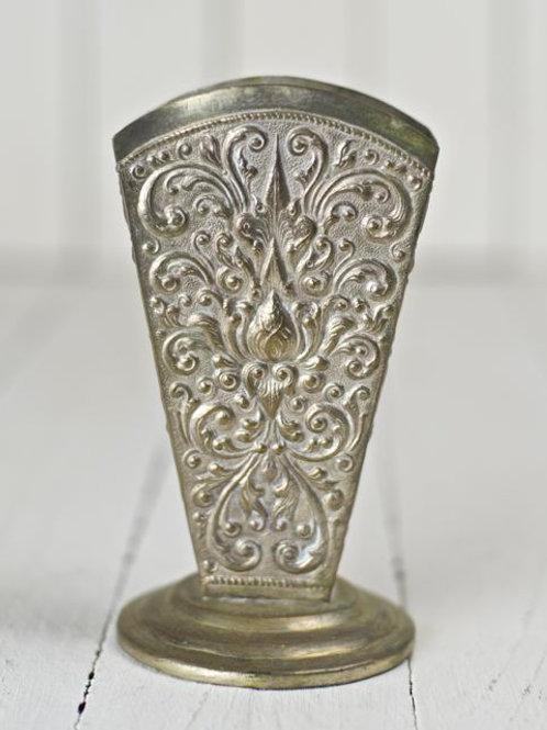 'Maude' - Vintage Tin Scrolled Vase