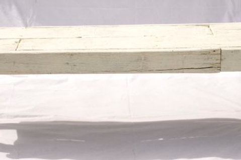 'Benjie Snow' - White Wooden Bench