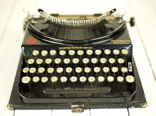 'Type' Vintage Portable Typewriter