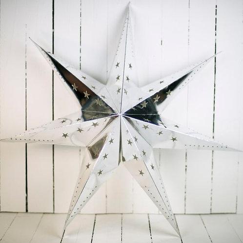 'Starlight Silver' - Large Silver Star Lantern