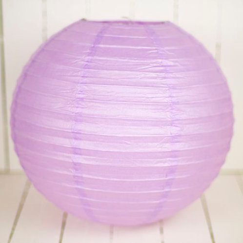 'Rice Lilac' - Lilac Paper Lantern 12 Inch