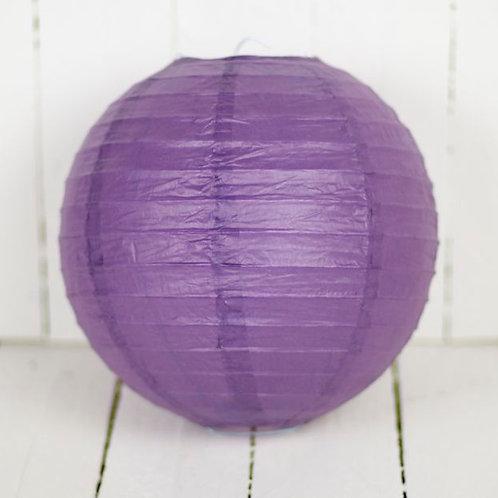 'Rice Purple 8' - Purple Paper Lantern 8 Inch